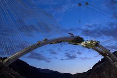 Bridge at Hoover Dam, Arch Segments, June 29