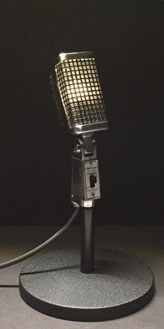 Original 1960s Claricon 38-503 Dynamic Microphone Repurposed Lamp Sculpture