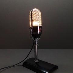 Original 1960s Philmore M-18 RCA Pill Microphone Repurposed Lamp Sculpture