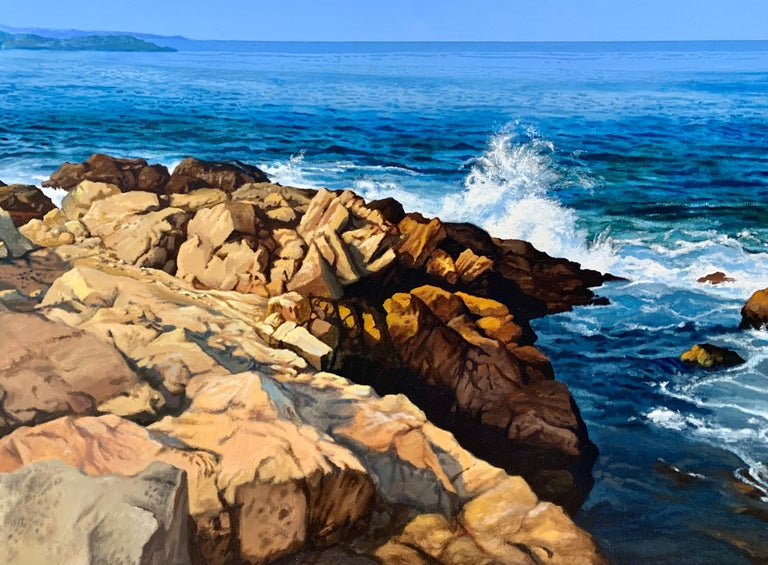 """Lion's Head Rock (East Hampton, NY),"" Photorealism, circle of Malcolm Morley - Painting by Ian Hornak"