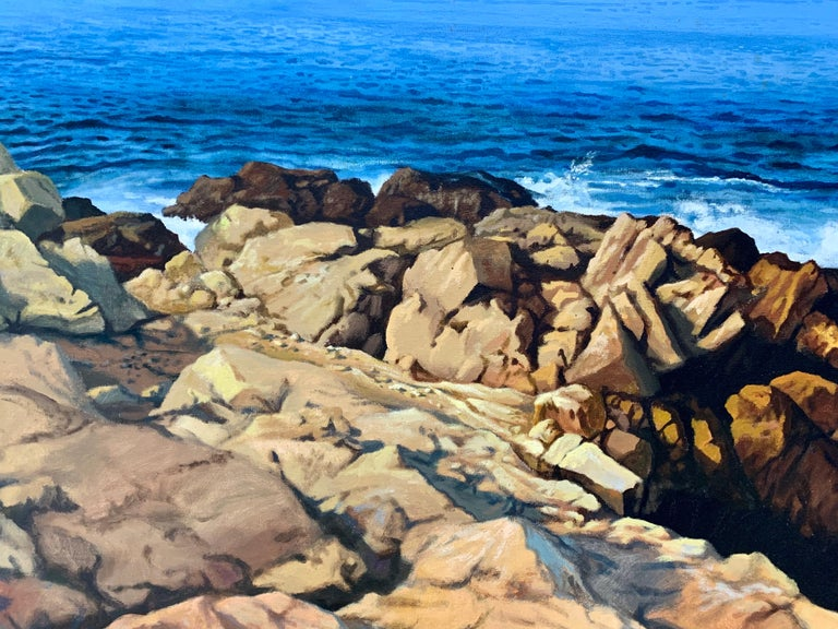 """Lion's Head Rock (East Hampton, NY),"" Photorealism, circle of Malcolm Morley - Photorealist Painting by Ian Hornak"