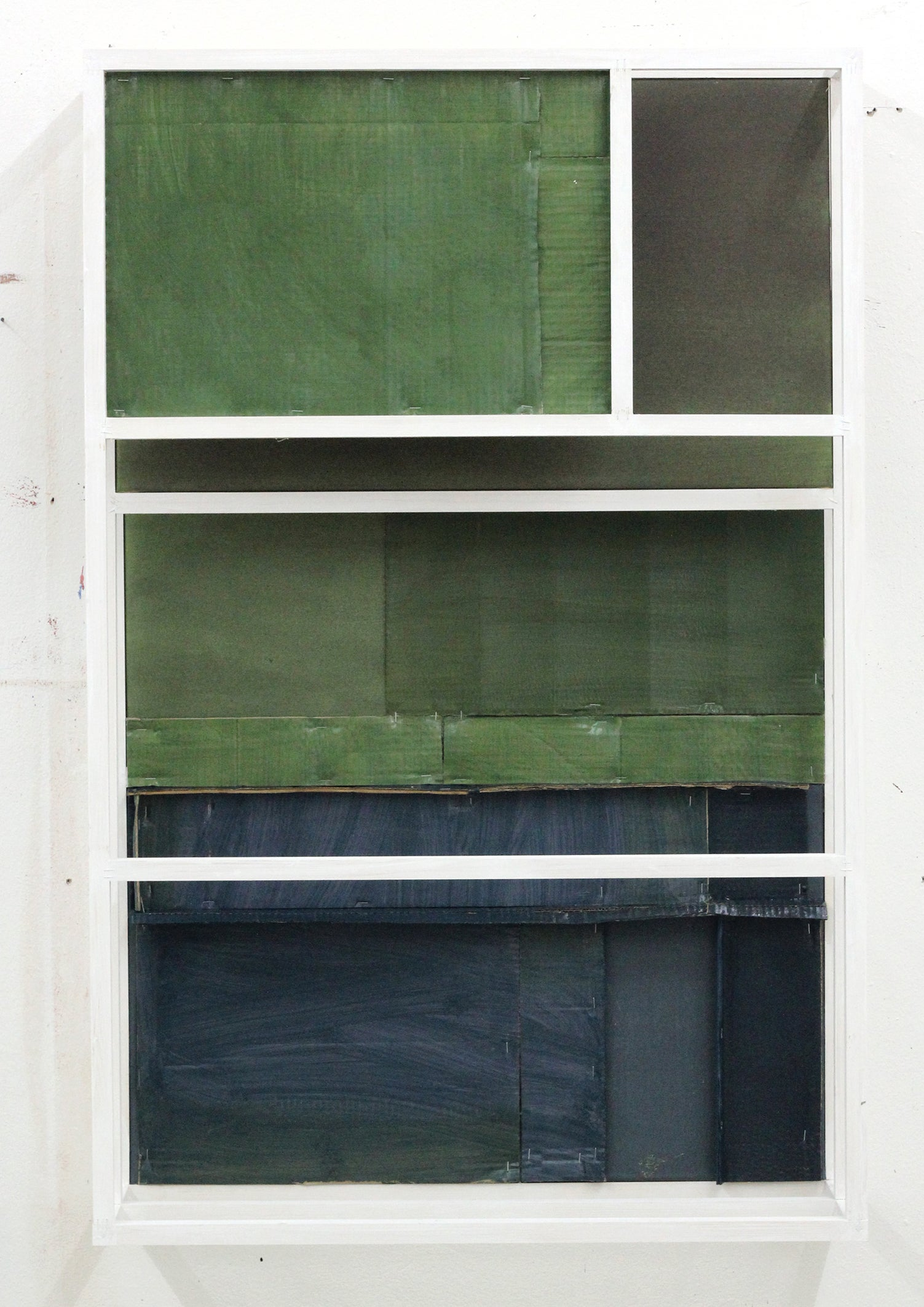 """""""Untitled(concurrent)05"""" / Blue, green, sculpture, painting, relief, minimal"""