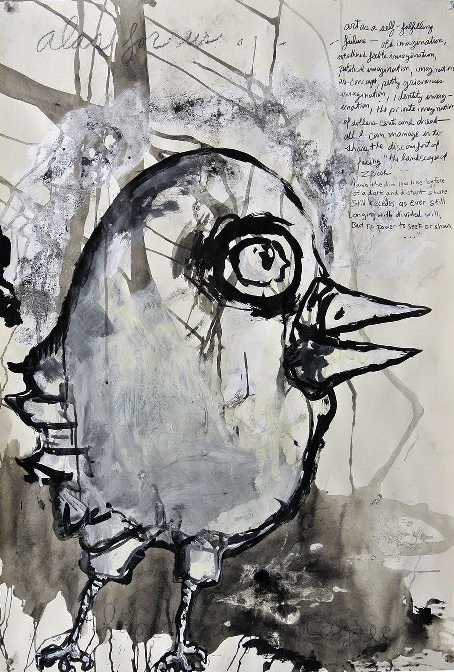 """""""Alas"""", acrylic painting, drawing, portrait, democracy, politics, citizen lament"""