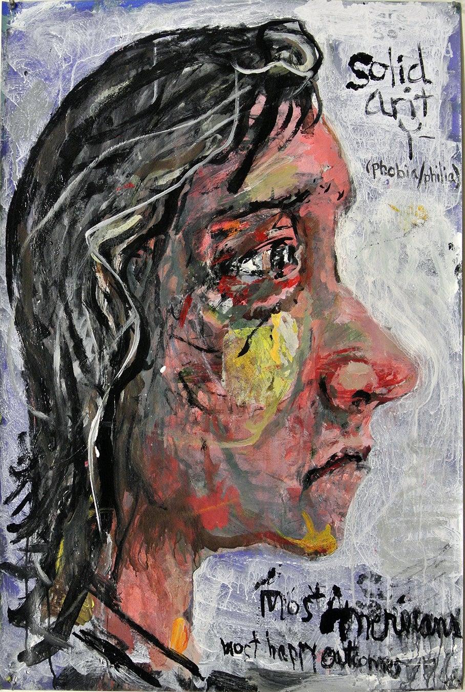 """Solidarity"", acrylic painting, portrait, politics, humanity, Americans, resist"