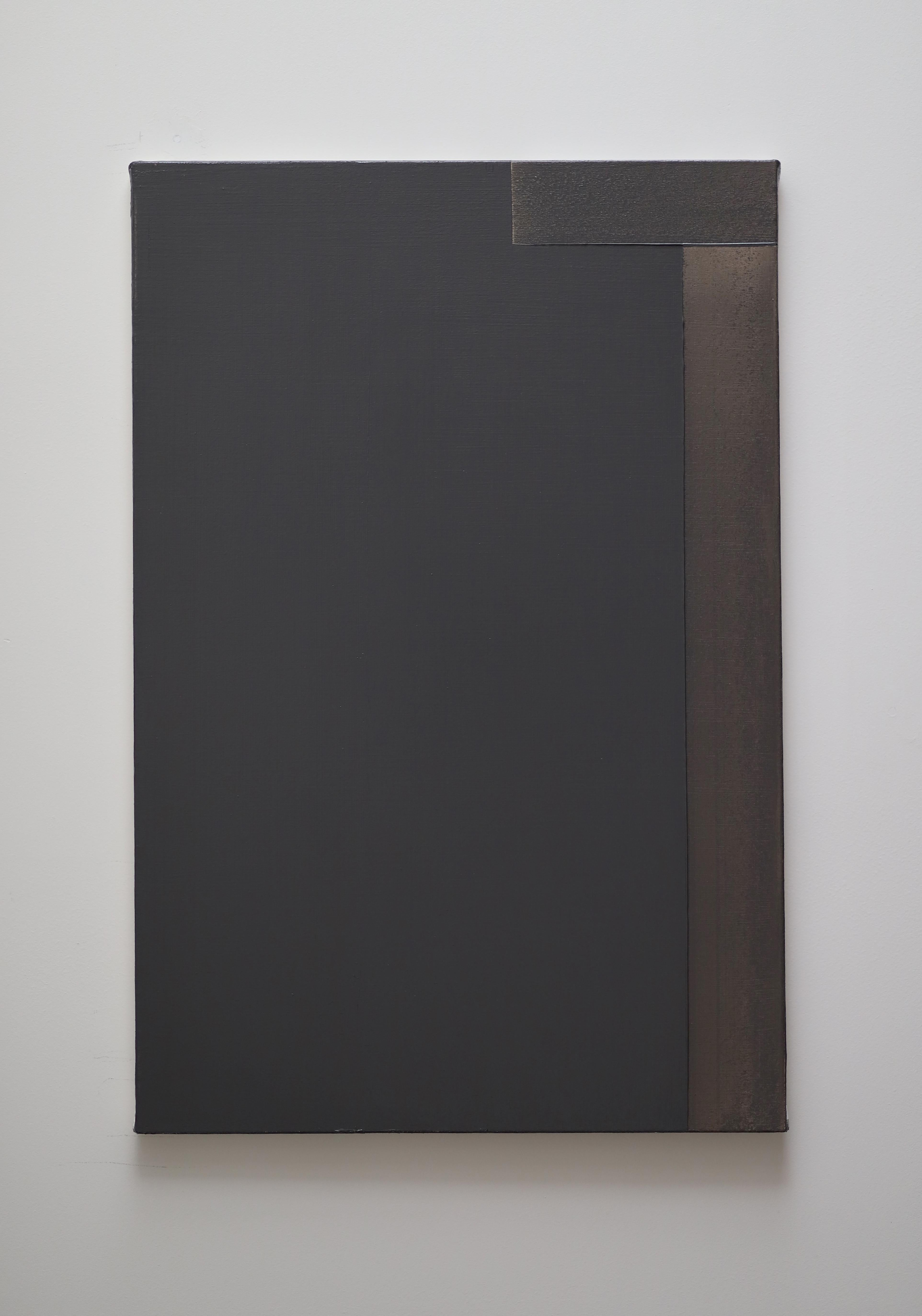 Contemporary minimalist oil painting by GJ Kimsunken 'Figuration 20.2' Coffee