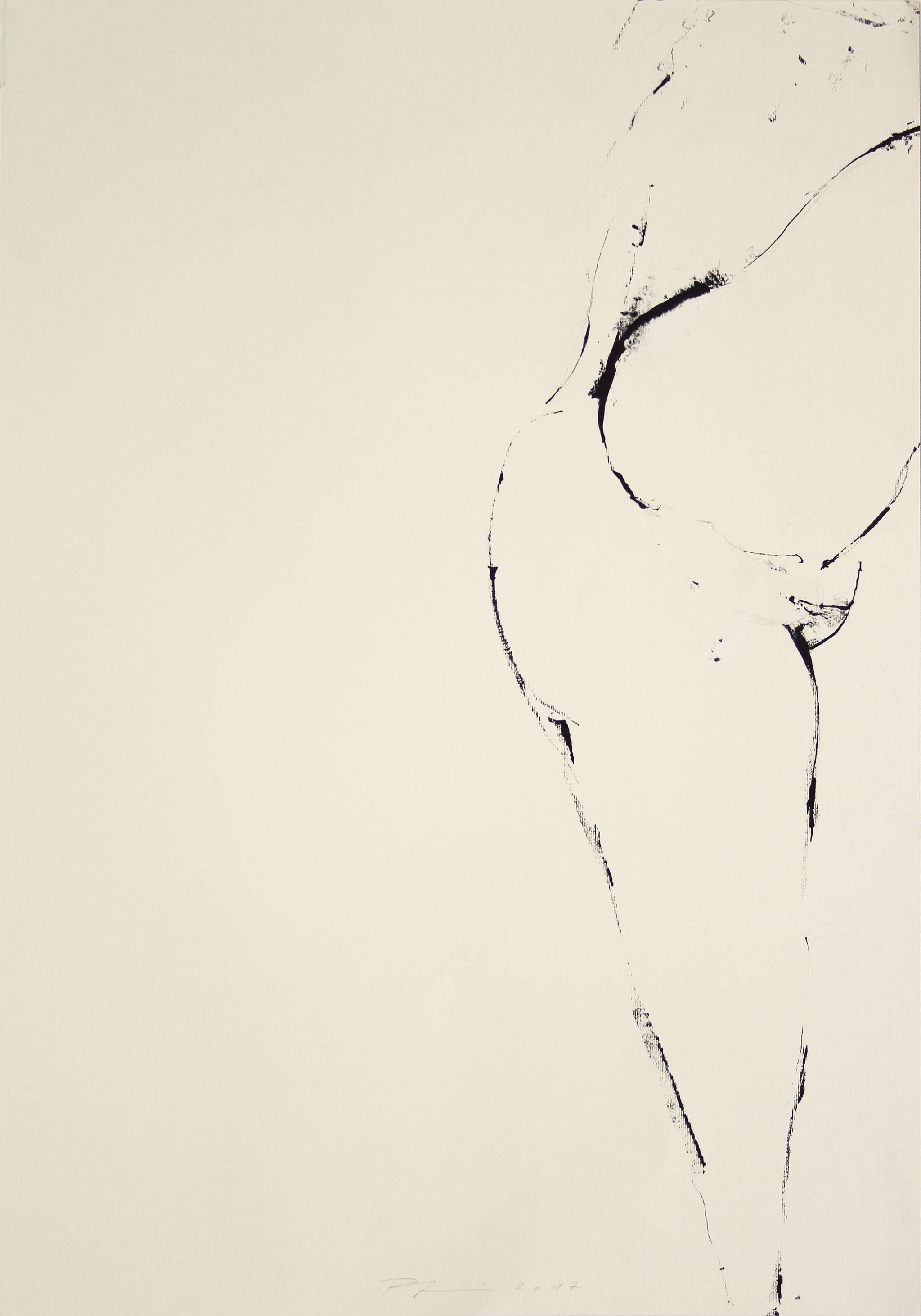 Large Original line drawing 'Mirage and Damnation (Nude IV)' Ink on paper Figure