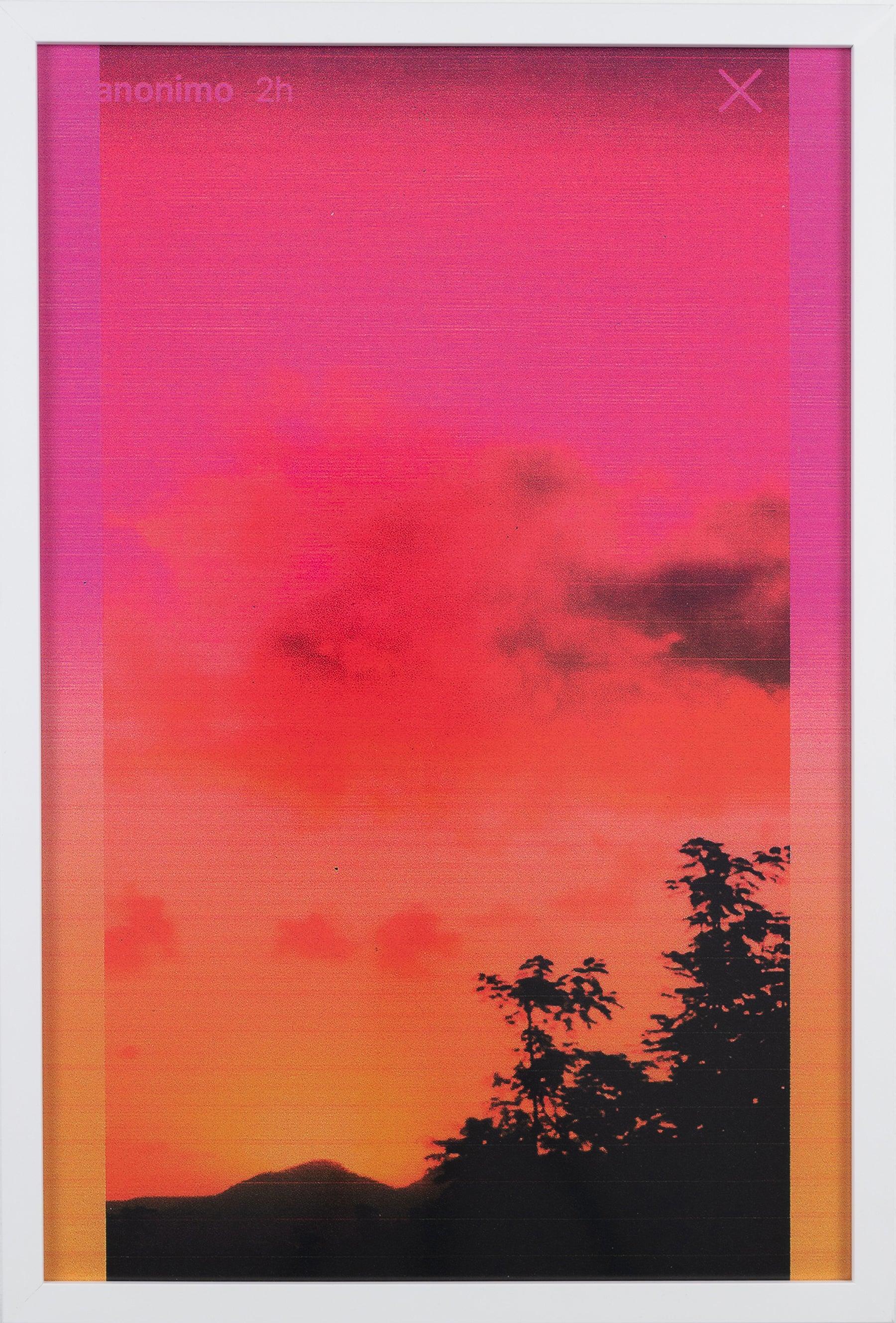 Dusk/Daybreak 1 Framed Color Photography Print  30 x 20 in. Red Orange Sunset