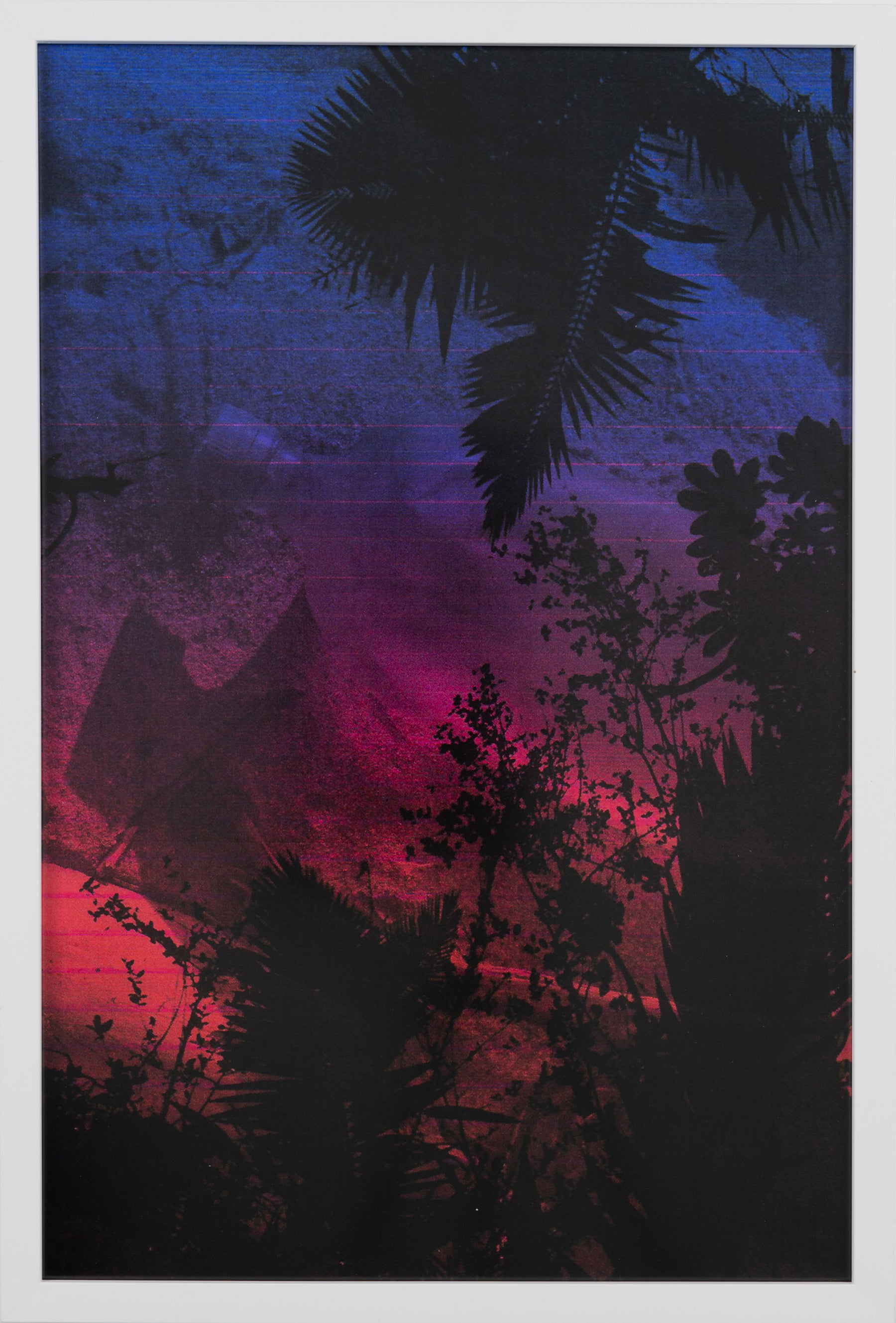 Dusk/Daybreak 4 Framed Color Photography Print  30 x 20 in. Cerulean Fuschia