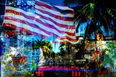 MIAMI AMERICA - The US Flag as a Symbol of Freedom in beautiful Miami