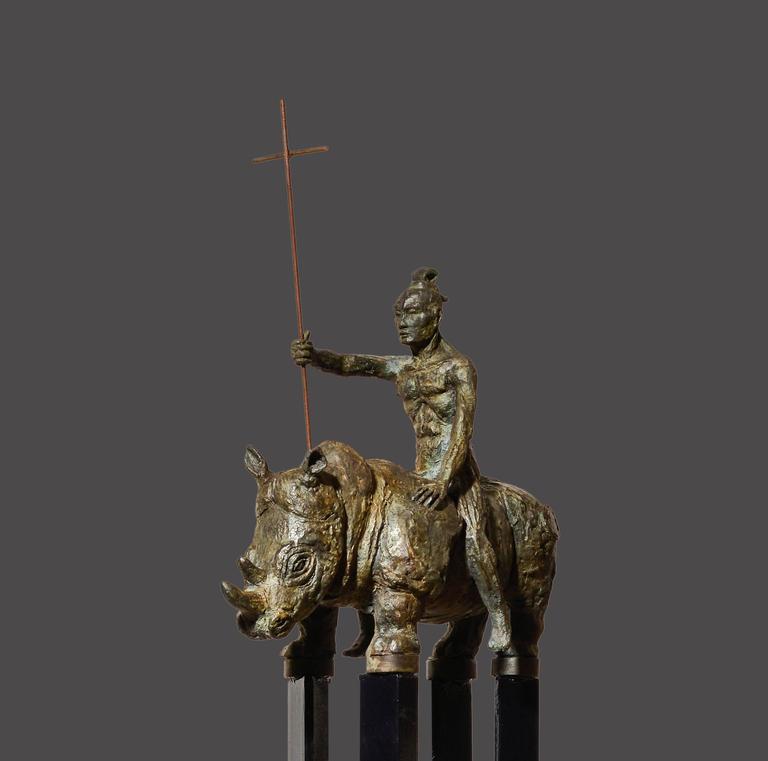Samurai IV - Sculpture by Mariko