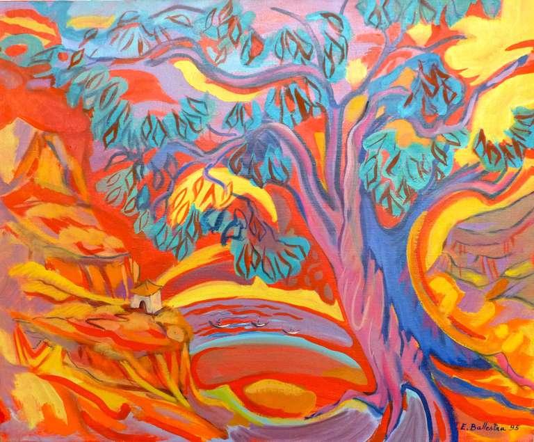 Evelyne Ballestra Landscape Painting - Passage