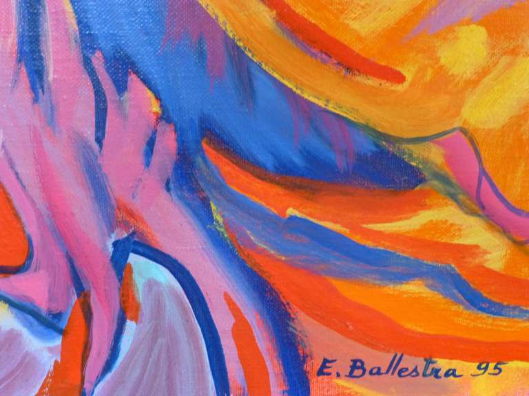 Passage - Fauvist Painting by Evelyne Ballestra