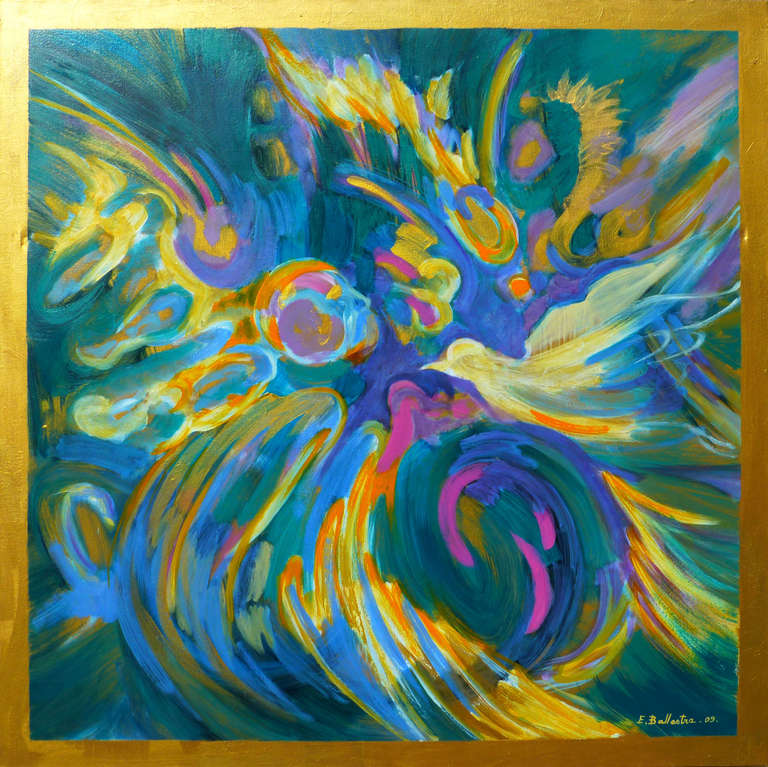 Peace dove - Painting by Evelyne BALLESTRA