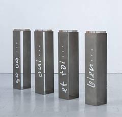 """Original stand or pedestal """"Ça va"""" - Unique piece"""