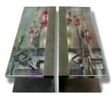 Luminous Twin tables - Unique pieces