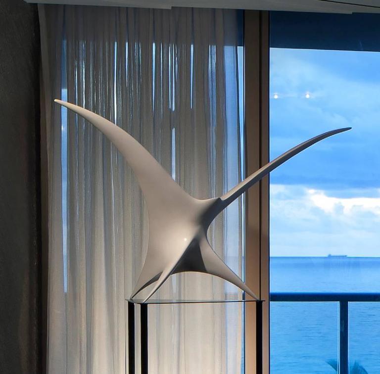 Twin Bird Sculpture - Black Figurative Sculpture by Patrice Breteau