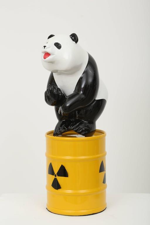 Fuck Panda - Beige Figurative Sculpture by Patrick Schumacher