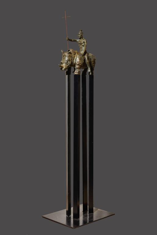 Samurai IV - Realist Sculpture by Mariko