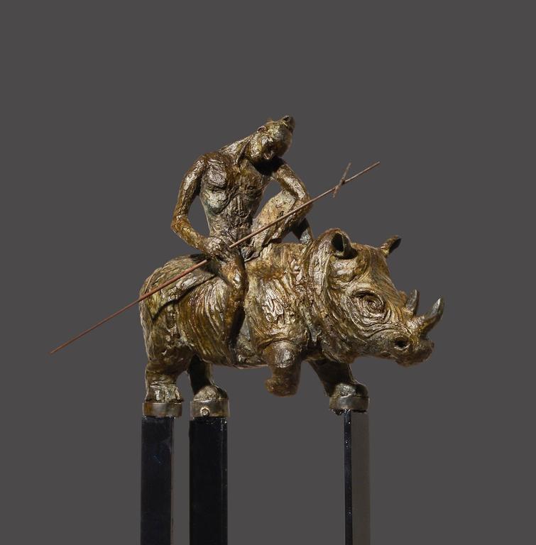 mariko seven samurai bronze sculpture for sale at 1stdibs