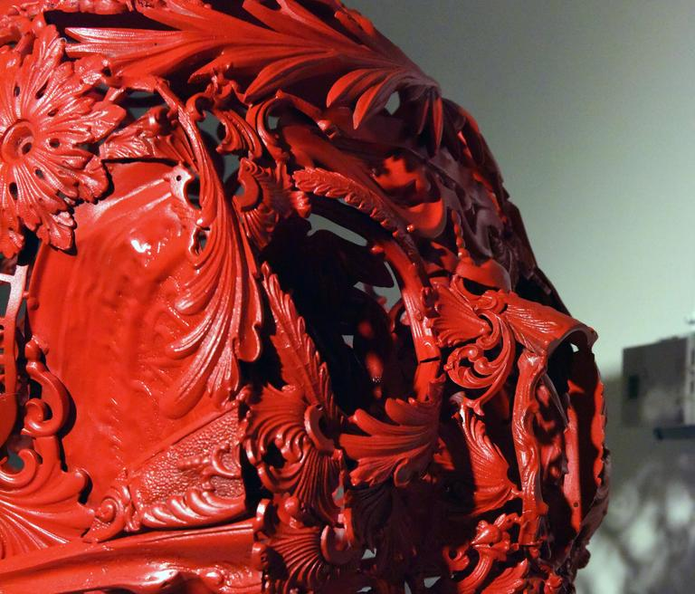 Turned Red - Bronze Skull Sculpture 5