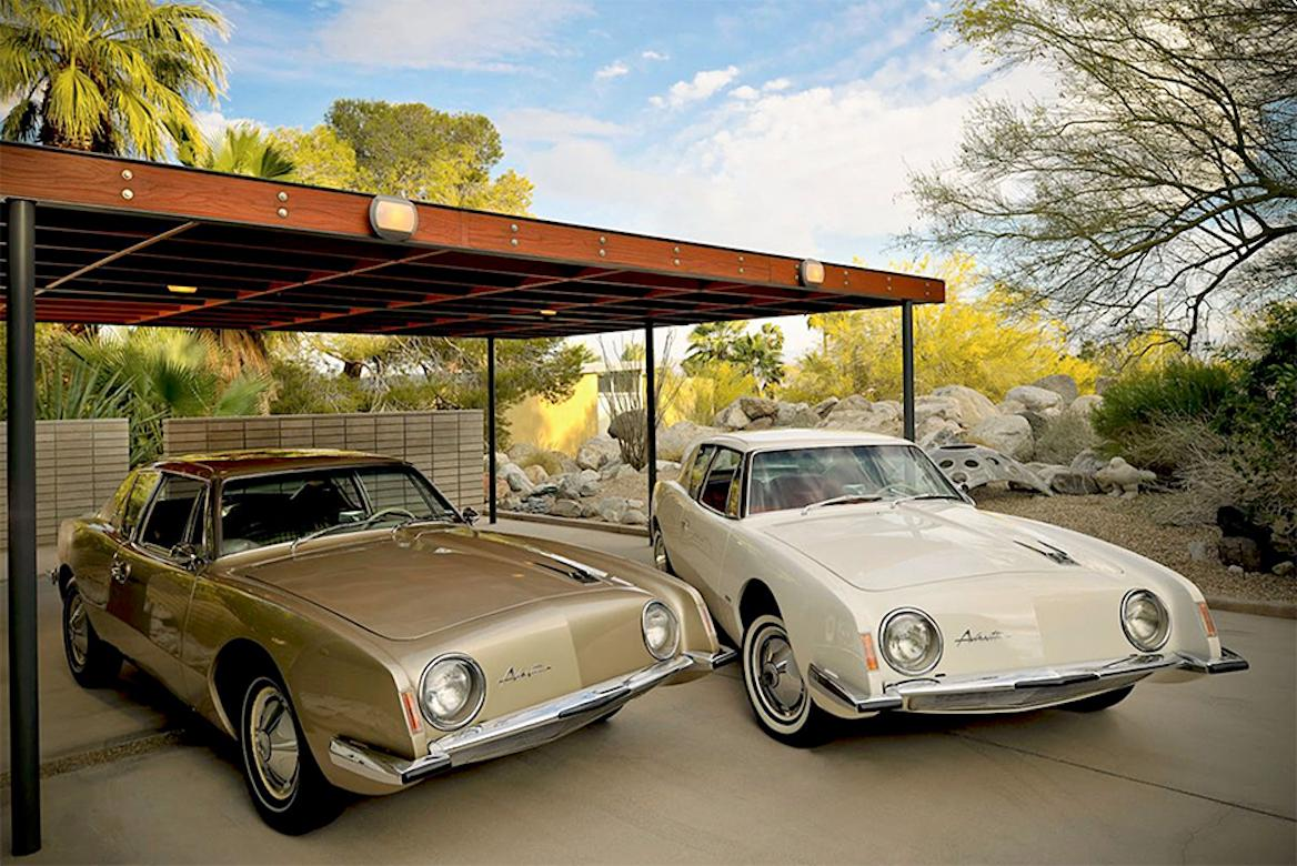 """""""1963 Avanti's at the Loewy House"""" James Schnepf Photograph Modernism Classic"""