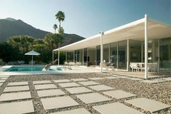 """""""Wednesday Afternoon at Palm Springs Glass House"""" James Schnepf Photograph Pool"""