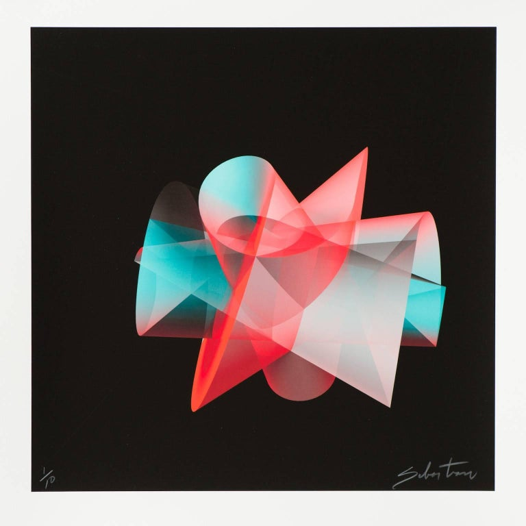 Enrique Sebastian Carbajal Abstract Print - Untitled 8 (small)
