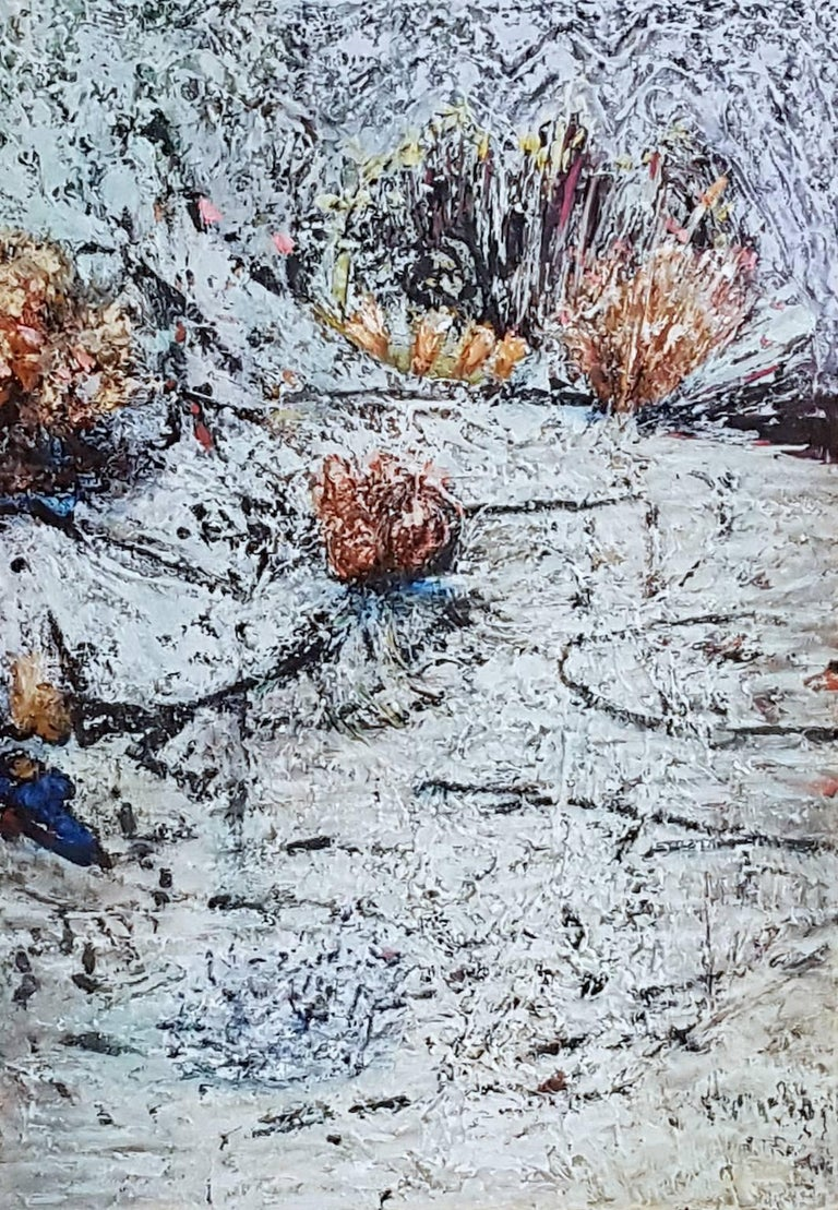 Jim Waid Abstract Painting - Frozen Pond