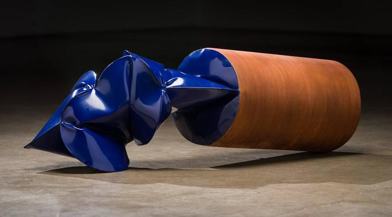 Jeremy Thomas Abstract Sculpture - Flaring Blue