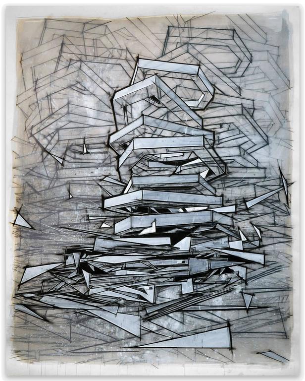 Travis Rice Abstract Drawing - Snafu