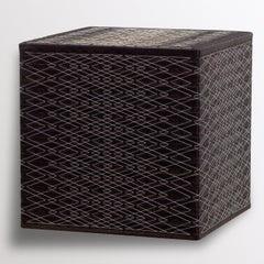 Black Cube / White Thread, Native Pattern