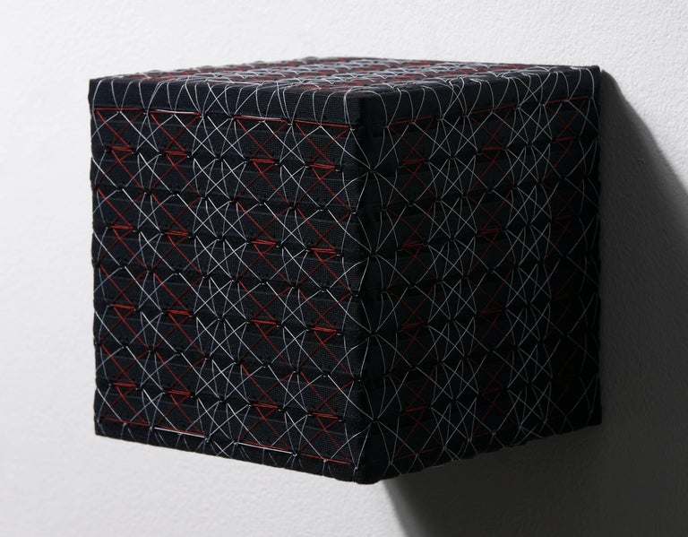 Black Cube w/ Red and White Diamond