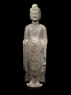 Buddha (5 foot 6 inches limestone), Northern Qi Dynasty, 550-577AD