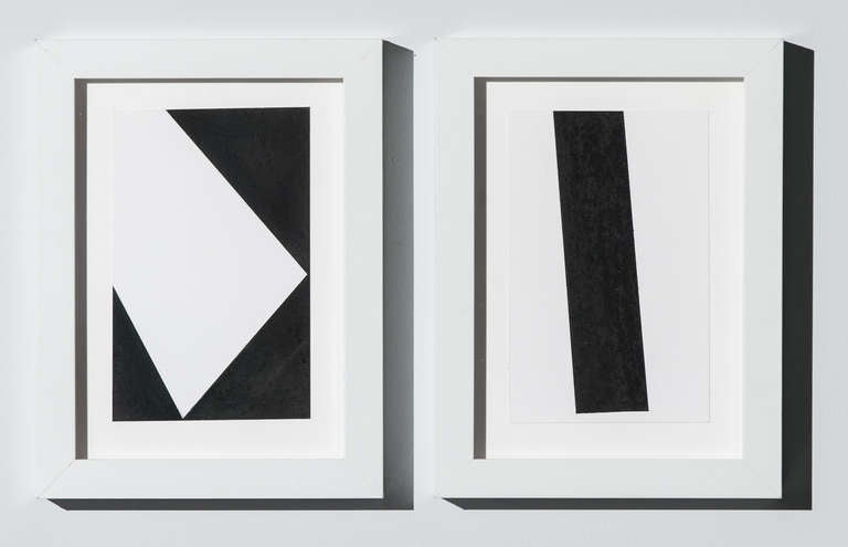 George Thiewes Abstract Drawing - Untitled (set of 2 small)