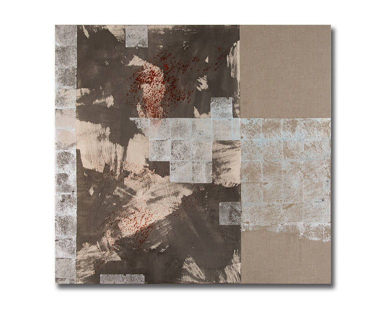 Judith Kruger Abstract Painting - Silver Lining Meditation