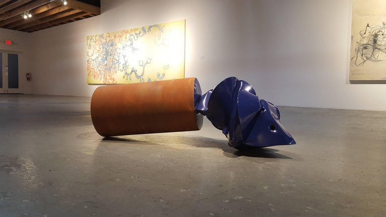 Flaring Blue - Contemporary Sculpture by Jeremy Thomas
