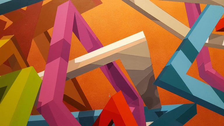 THWOK - Abstract Geometric Painting by Travis Rice