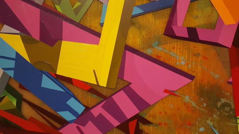ZOOPOW - Abstract Geometric Painting by Travis Rice