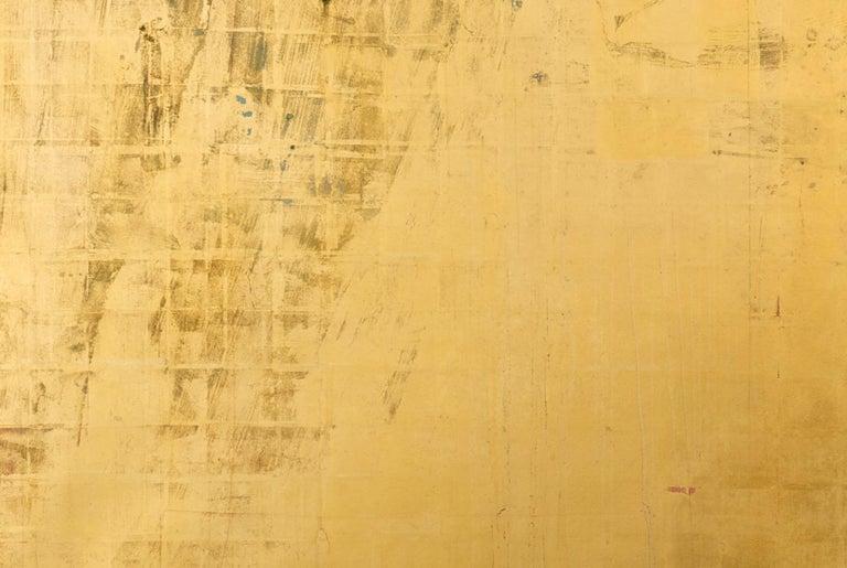 Charis - Orange Abstract Painting by Makoto Fujimura
