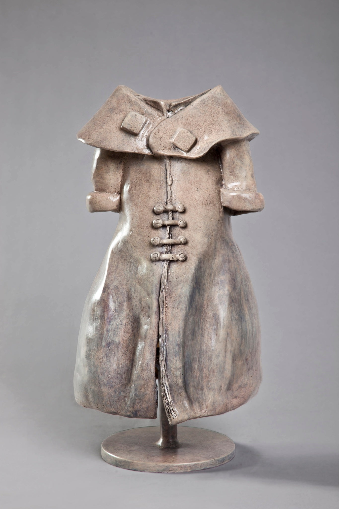 Anita Birkenfeld, Dress, garment sculpture, Bronze sculpture