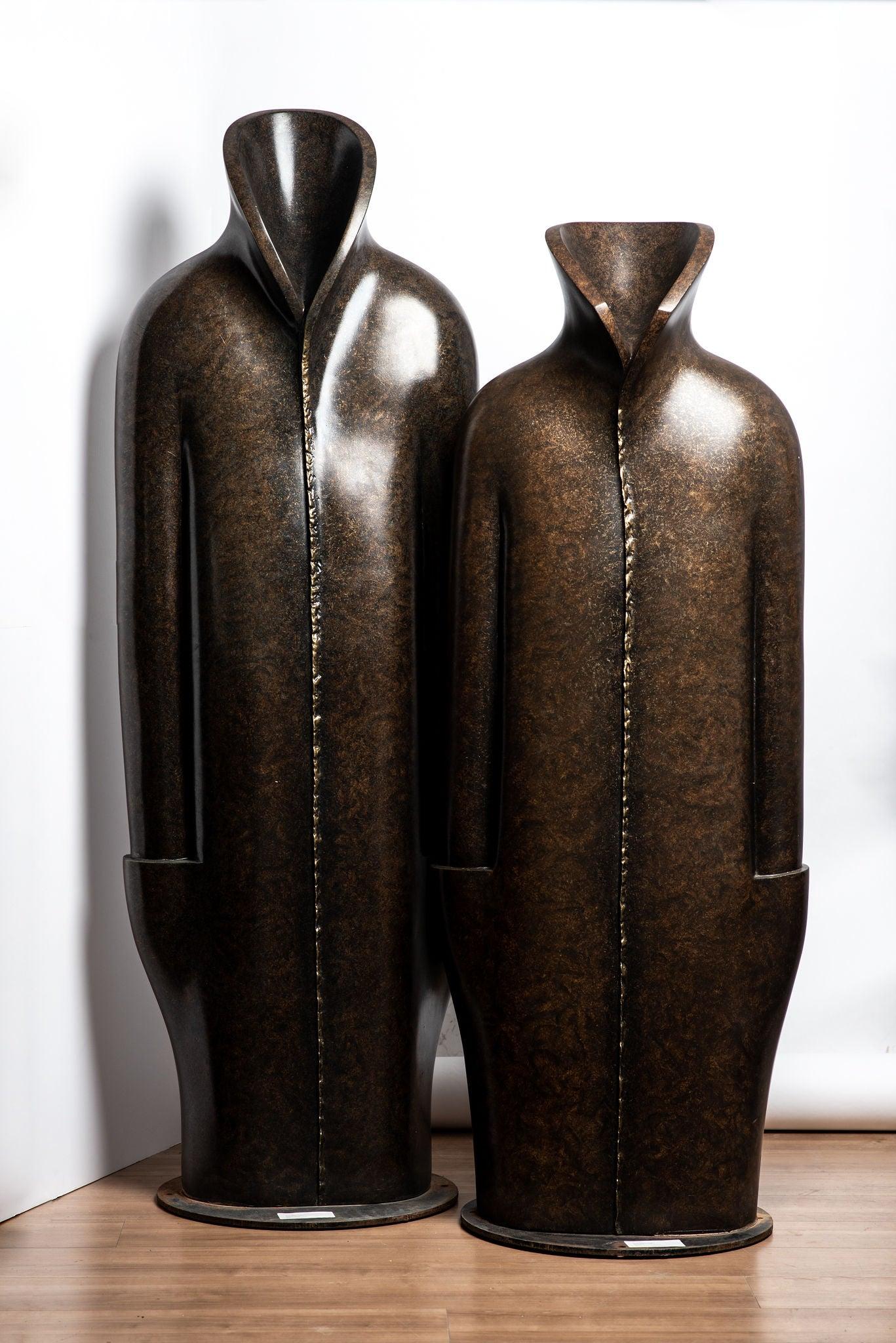 Anita Birkenfeld, Big Robes, monumental sculptures, Mamilla center, polymer