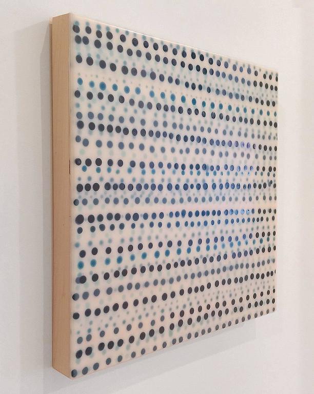 Blue Rows 008 - Painting by Heidi Van Wieren