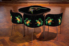 Pietre Dure, FUSION Table and Chairs, The Paradise Parrot