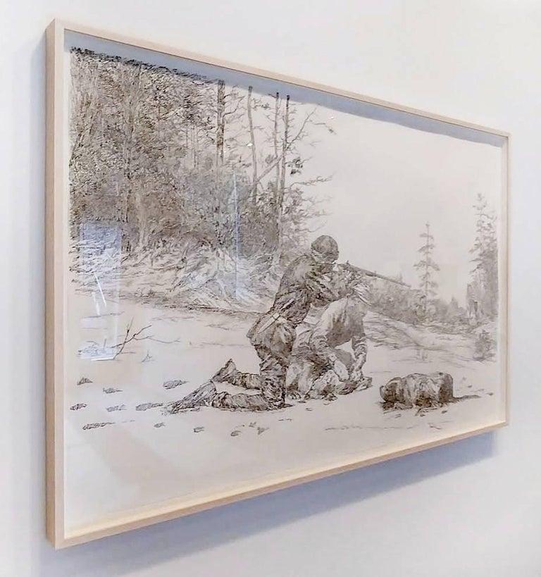 Balancing the Report (FCIR, part 10) - Gray Figurative Art by Michael Waugh