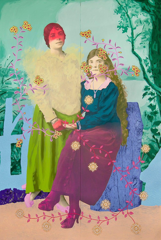 Daisy Patton Mixed-Media Paintings