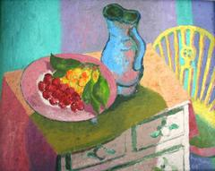 Still life on a painted chest