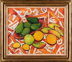 Tahitian still-life, Avacodes, Mangoes, Oranges, Lemons