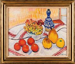 Still Life with Blue Jug, Pears, Oranges, Grapes