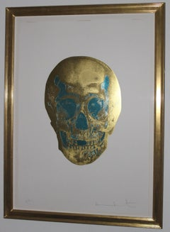 Damien Hirst - The Dead, Oriental Gold/ Turquoise Skull