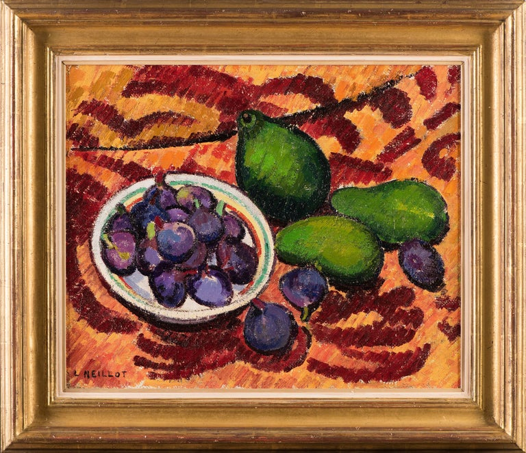 Still life with Avacodos and Figs